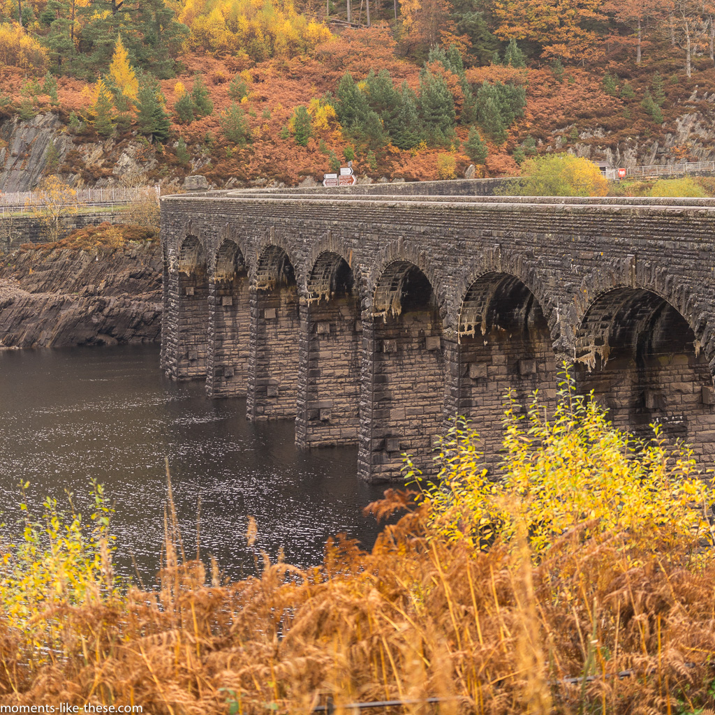 Garreg-ddu Reservoir in the Elan Valley