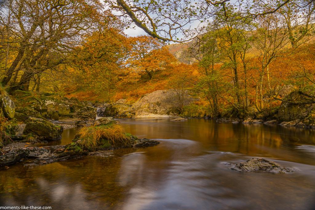 Afon Doethie near Dinas Rock