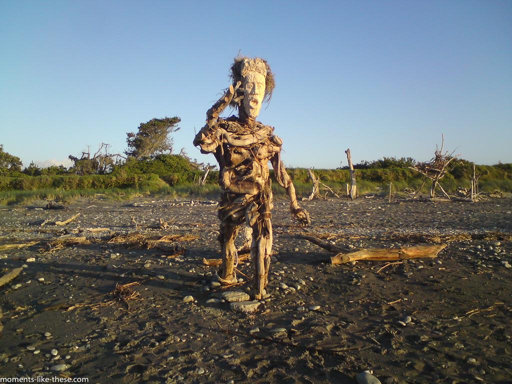 Beach art - Hokitika
