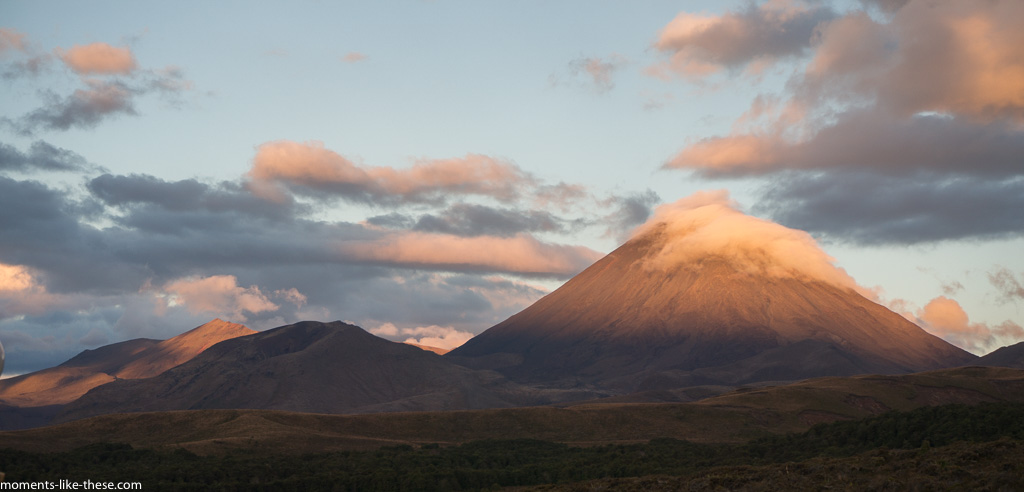 "Ngauruhoe (""Mount Doom"") - Tongariro NP at sunset"